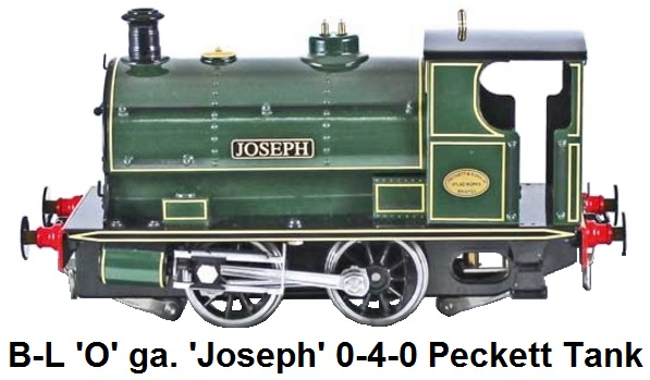 Bassett-Lowke By Corgi 'O' gauge 0-4-0 Peckett Industrial Saddle Tank Locomotive 'Joseph' for 2 or 3 rail electric