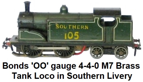 Bonds of O'Euston Road Ltd., London 'OO' gauge 4-4-0 M7 Tank Locomotive in Southern livery