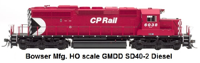 Bowser Trains HO scale GMDD SD40-2 diesel