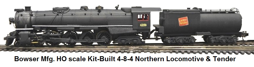 Bowser HO scale kit-built 4-8-4 Northern Loco & Tender