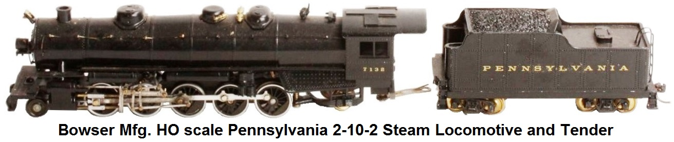 Bowser HO Scale Pennsylvania 2-10-2 Steam Locomotive and Tender