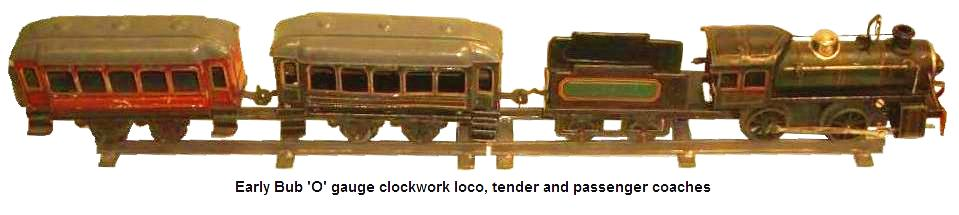Bub early 'O' gauge clockwork train