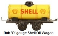 Bub 'O' gauge Shell fuel tank wagon