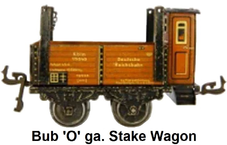 Bub 'O' gauge Stake wagon With Brake Hut made 1933