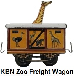 Bub 'O' gauge Giraffe zoo car