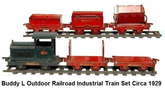 Buddy L 2 inch gauge Industrial Train Set from 1929