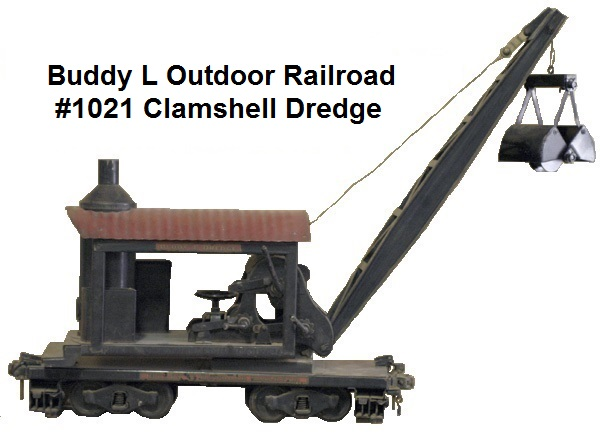Buddy L 3¼ inch gauge Outdoor Railroad Clamshell Dredge