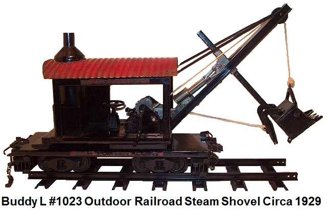 Buddy L #1023 3¼ inch gauge Outdoor Railroad steam shovel