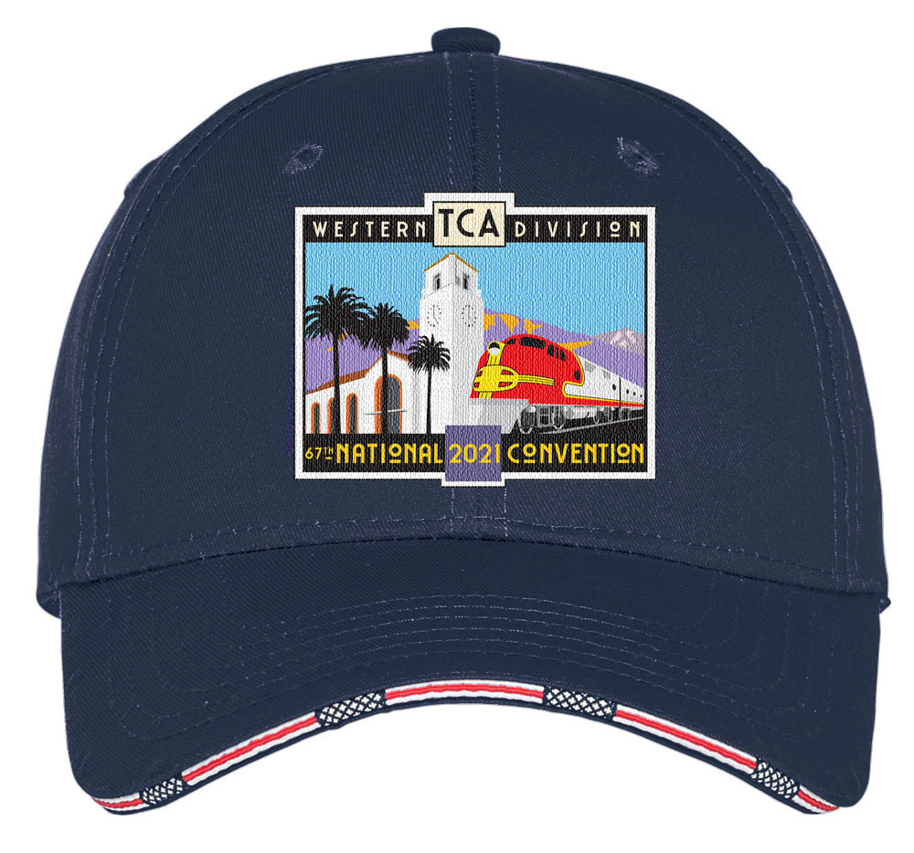 ball cap with patriotic ribbon