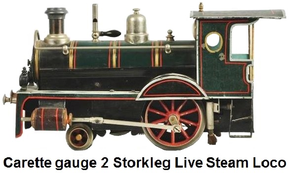 Carette gauge 2 Stork Leg live steam locomotive