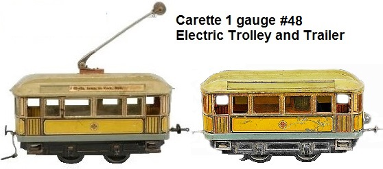 Carette #48 Trolley & Trailer
