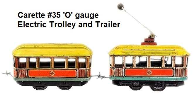 Carette O Gauge Trolley and Trailer