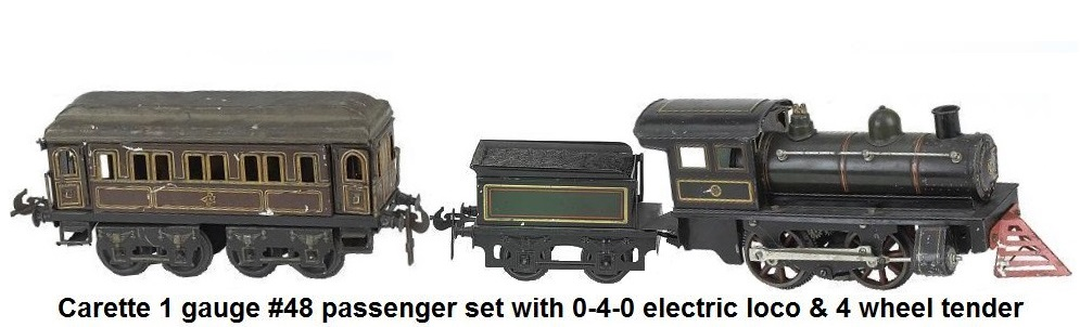 Carette gauge I #48 passenger set