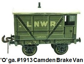 Carette 'O' gauge 1913 Camden brake van