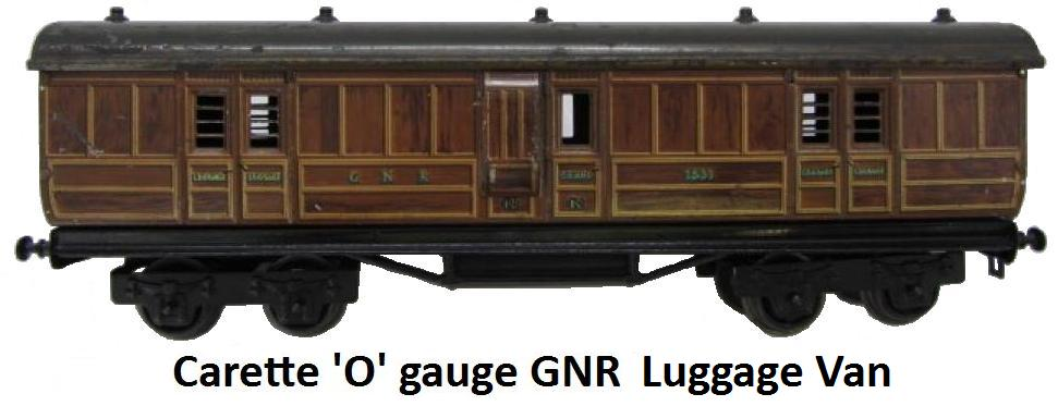 Carette 'O' gauge GNR Luggage Van