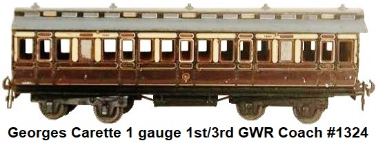 Carette 1 Gauge eight wheel passenger car