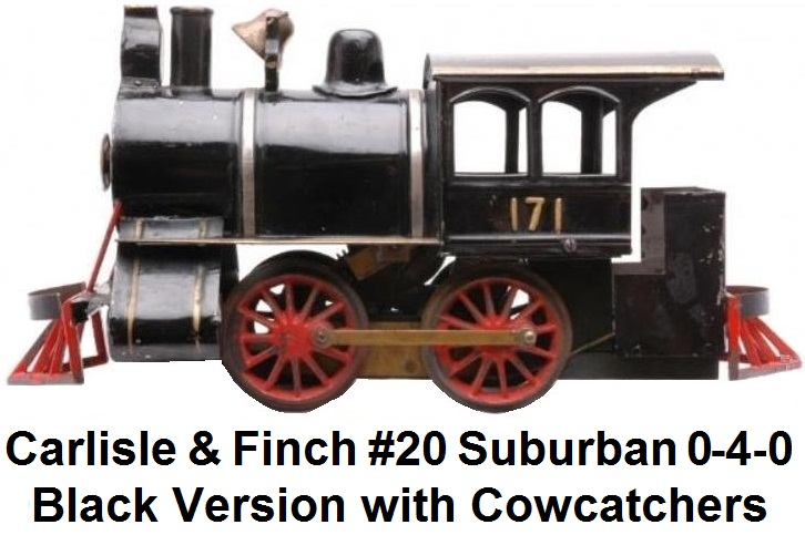 Carlisle & Finch #20 Suburban 0-4-0 locomotive in 2 inch gauge