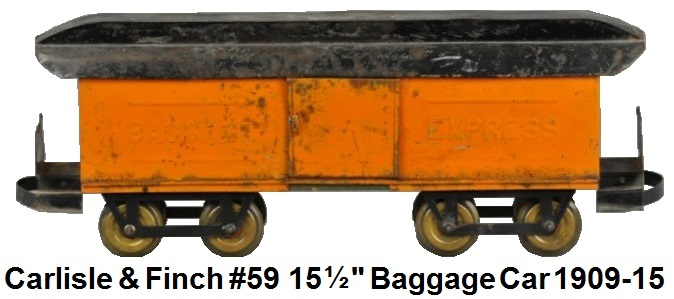 Carlisle & Finch #59 15½ inch embossed baggage express car 1909-1915