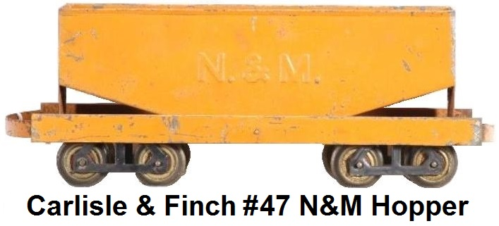 Carlisle & Finch 2 inch gauge #47 N&M embossed Hopper