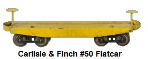 Carlisle & Finch 2 inch gauge #50 flat car