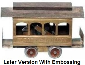 Carlisle & Finch #1 four window trolley in 2 inch gauge - later embossed version