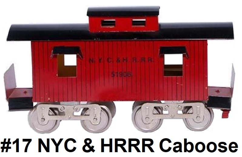 James Cohen Standard gauge reproduction Lionel #17 NYC & HRRR caboose