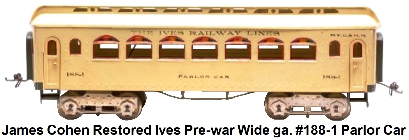 James Cohen restored Wide gauge Ives pre-war Ives #188-1 Parlor car