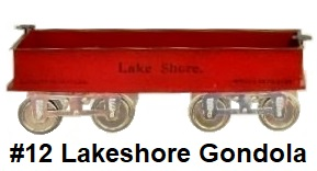 James Cohen Standard gauge reproduction Lionel #12 Lakeshore gondola
