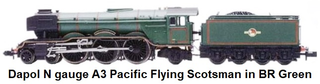 Dapol N gauge A3 Pacific Flying Scotsman in BR Green