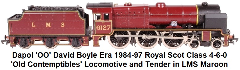 Dapol 'OO' David Boyle era 1984 - 1997 Royal Scot Class 4-6-0 #6127 Old Contemptibles in LMS Maroon Livery