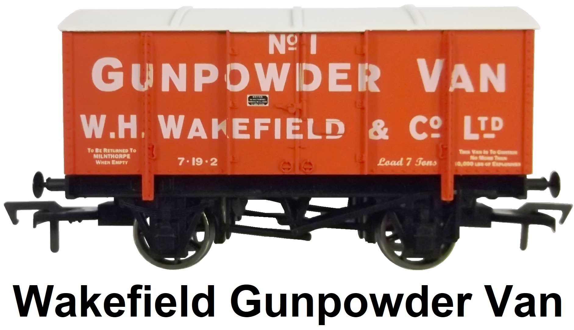Dapol 'OO' gauge W. H. Wakefield of Milnthorpe Gunpowder Van Limited Edition Wagon