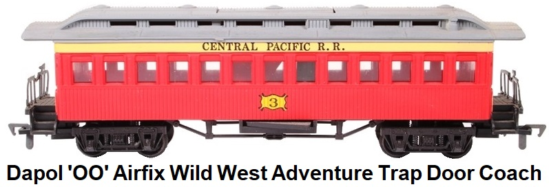 Dapol 'OO' gauge Airfix Wild West Adventure Trap Door Coach