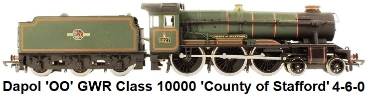 Dapol 'OO' gauge GWR Class 10000 'County of Stafford' 4-6-0 Locomotive