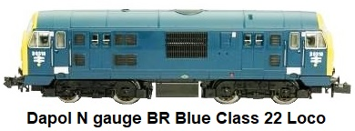 Dapol N gauge British Rail Blue Class 22 Locomotive