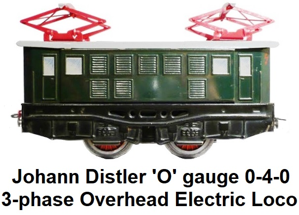 Johann Distler 'O' gauge 0-4-0 3-phase overhead electric loco circa 1950's