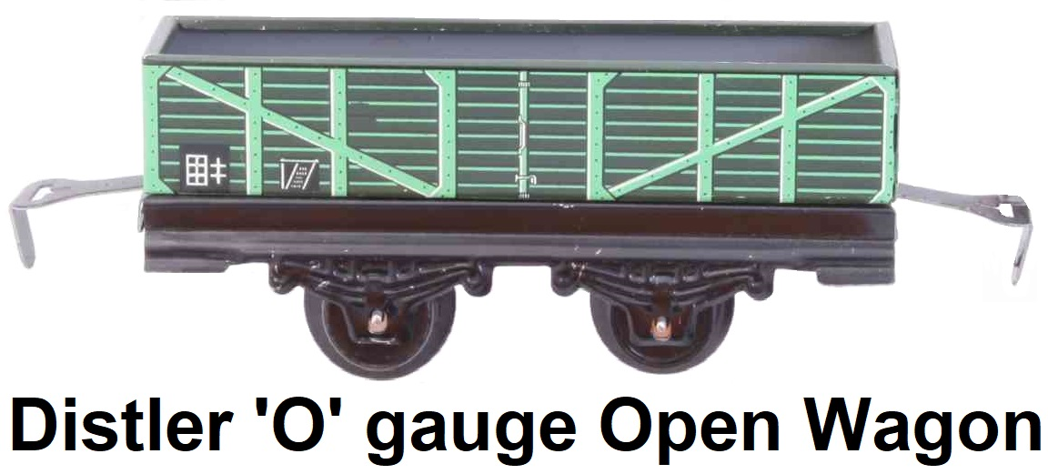 Johann Distler 'O' gauge tinplate lithographed 2-axle open wagon