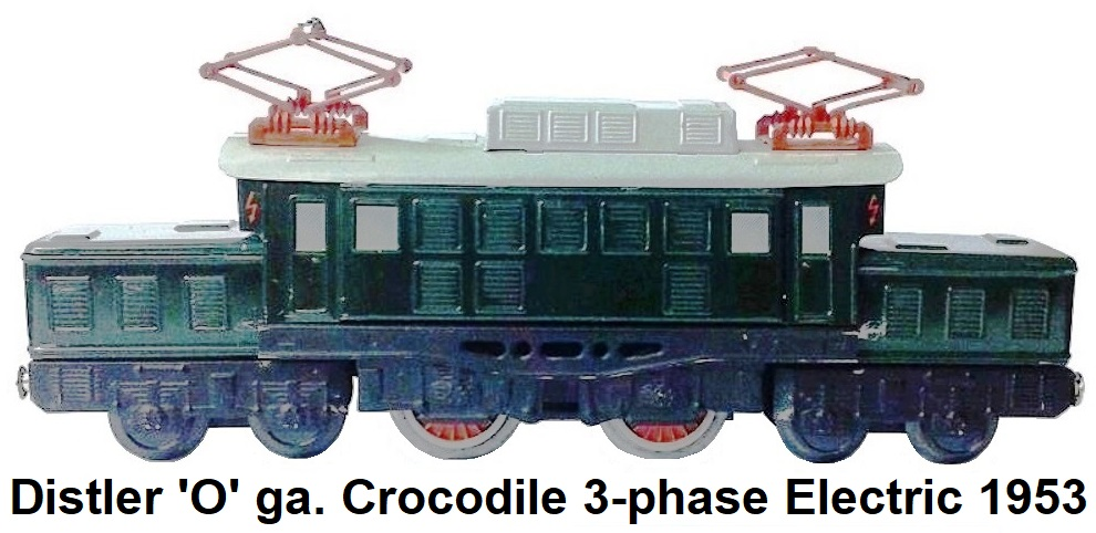 Johann Distler 'O' gauge Crocodile 3-phase electric loco circa 1953
