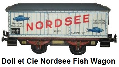Doll et Cie. 'O' gauge 1930's Nordsee Fish wagon