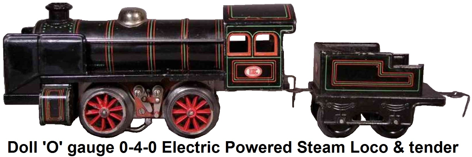 Doll et Cie. 'O' gauge 0-4-0 Electric powered Steam Outline loco