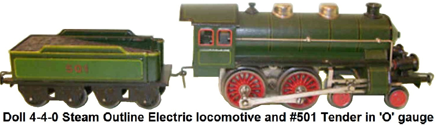 Doll et Cie. 'O' gauge steam outline Loco and tender #501
