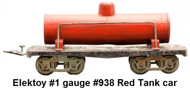 Elektoy #938 red tank car in #1 gauge