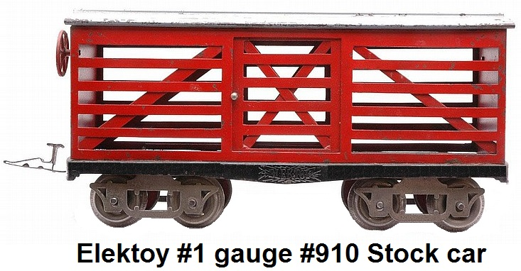 Elektoy #910 live stock car in #1 gauge
