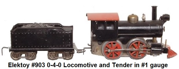 Elektoy #903 0-4-0 loco and tender in #1 gauge