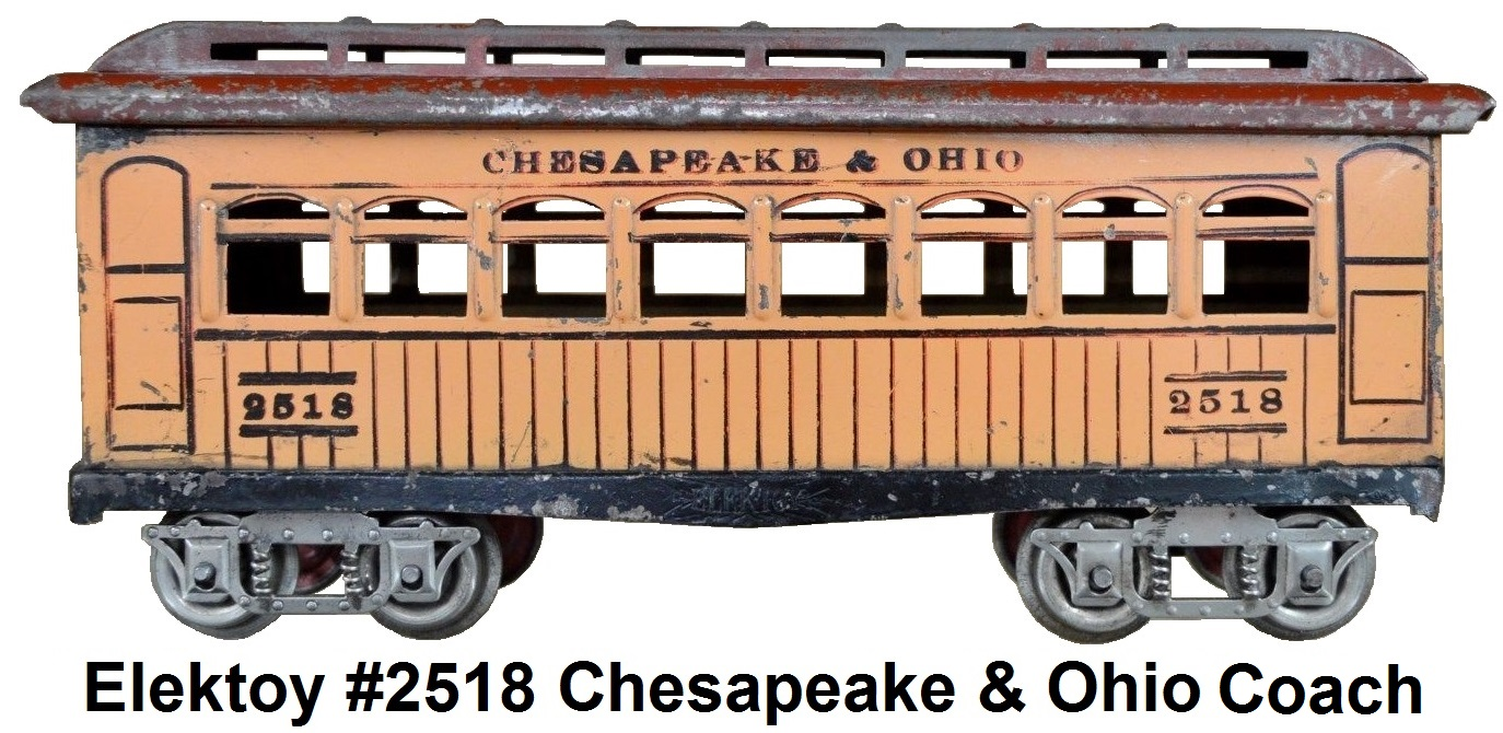 Elektoy #2518 C&O Passenger coach in #1 gauge