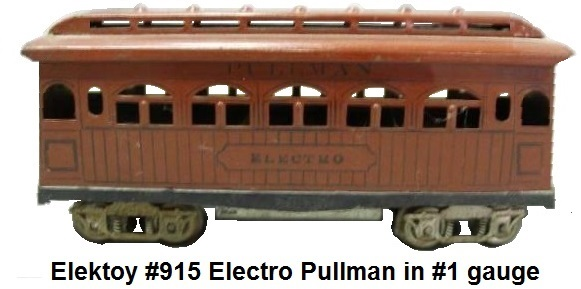 Elektoy #915 Electro Pullman car in #1 gauge