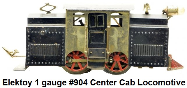 Elektoy #904 Black Center cab Electric outline Loco in #1 gauge