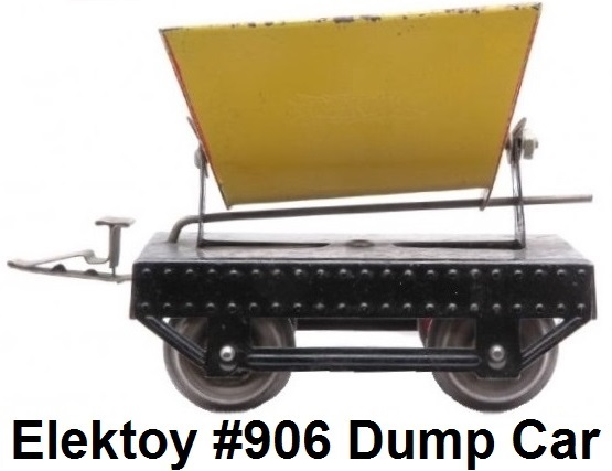 Elektoy #906 Yellow Dump Car in #1 Gauge