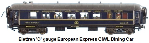 Elettren 'O' gauge European Express CIWL Dining Car