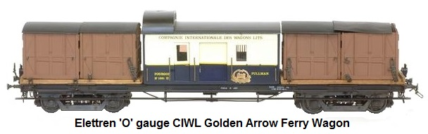Elettren 'O' gauge CIWL Golden Arrow Ferry van