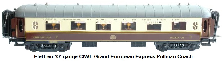 Elettren 'O' gauge CIWL Grand European Express Pullman Coach